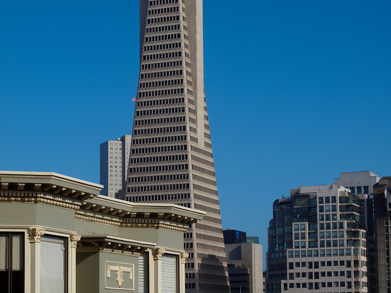 Old vs. newer, though the TA building isn't exactly new. It's the concord of buildings.