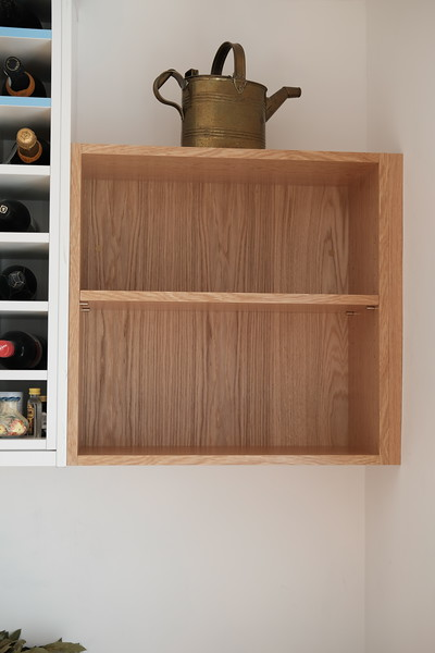 Custom made shelf unit.