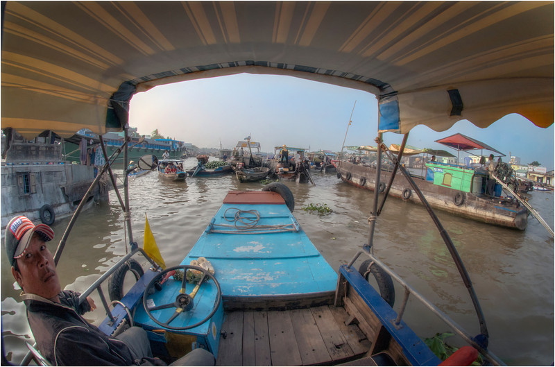 Floating Market, Can Tho, Vietnam.