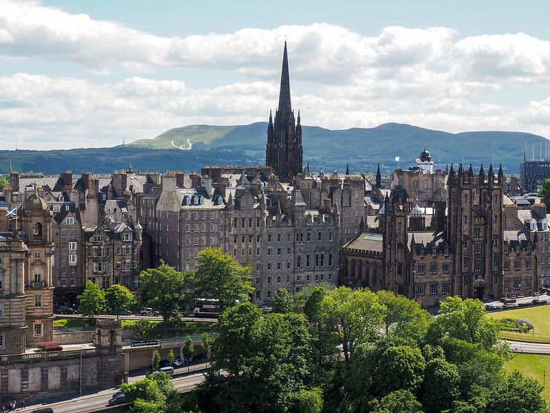 View from the Scott Monument in Edinburgh