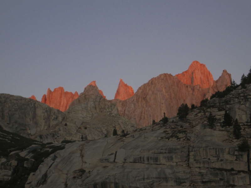 morning alpenglow on Whitney
