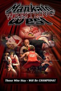 Mankato West Wrestling Poster