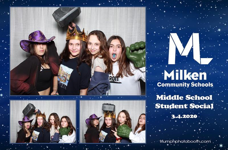 3/4/20 - Milken Middle School Student Social