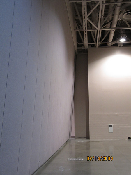 A large section of a wall was moved due to a sudden difference in air pressure.