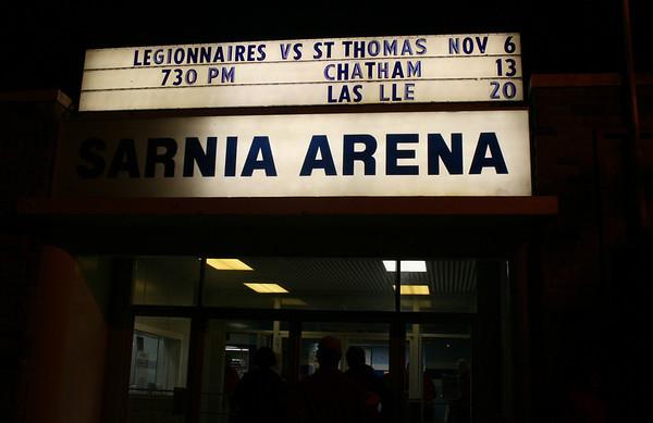 Legionnaires VS St Thomas Hockey at Sarnia Arena