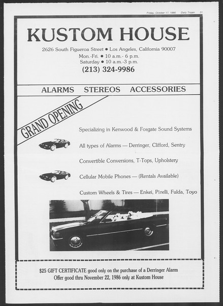 Daily Trojan, Vol. 102, No. 34, October 17, 1986