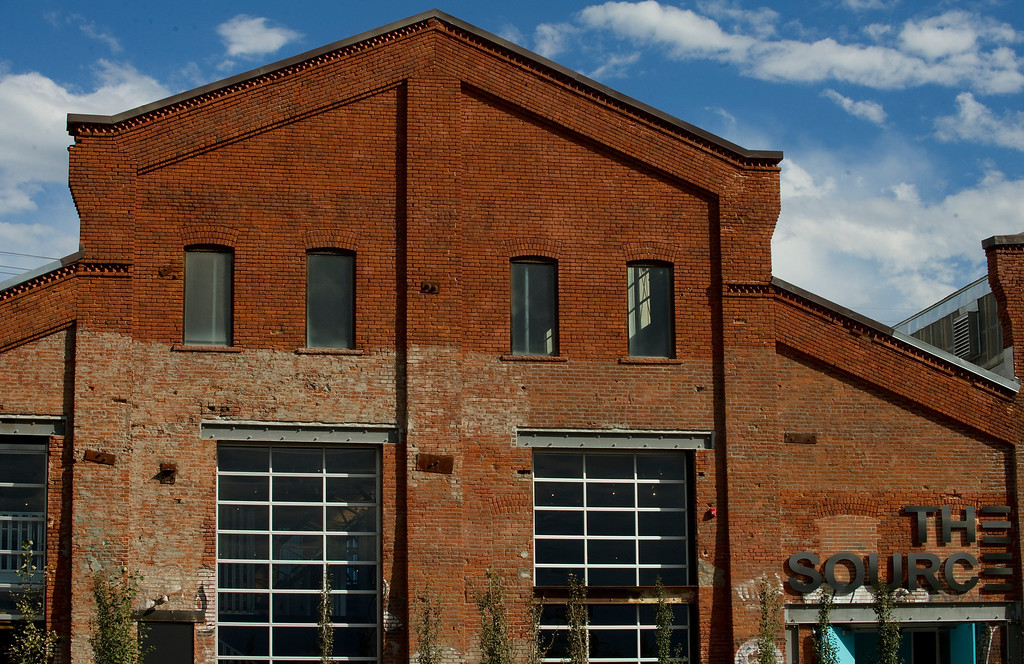 . The new inventive space in a former 19th century foundry,  The Source, 3350 Brighton Blvd. in Denver, is beginning to open. The building features bright natural light on Monday August 26, 2013. It will have several restaurants and shops.   (Photo By Cyrus McCrimmon/The Denver Post )
