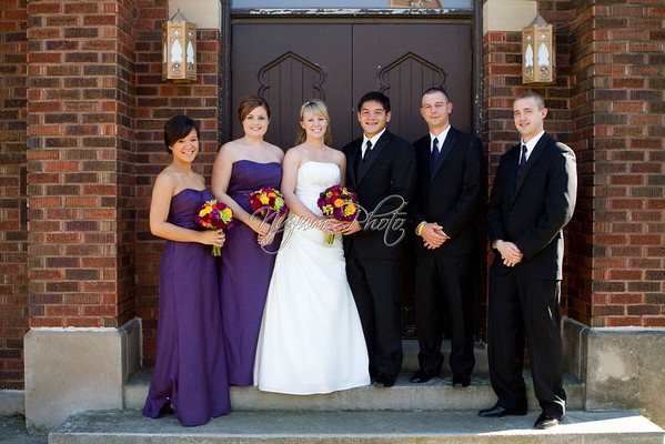 Outside the Church - Mallery and Ben