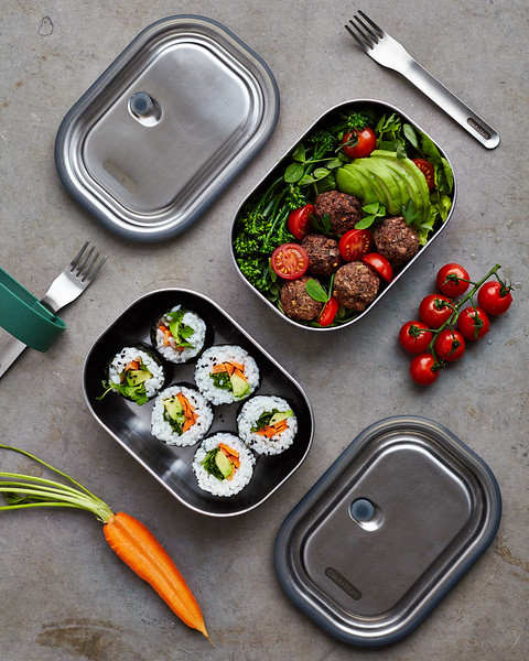 Stainless Steel Lunch Box Black Blum