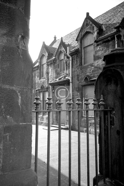 Gallowgate, Camlachie.  Part of Camlachie Primary School probably, maybe the janitor's house.    March 1976