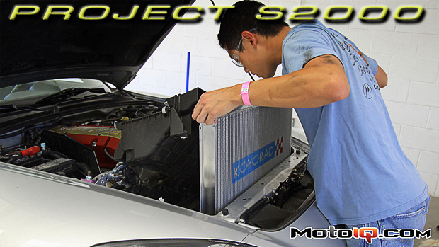 Project Honda S2000 Koyo radiator and ARK Design MFD2