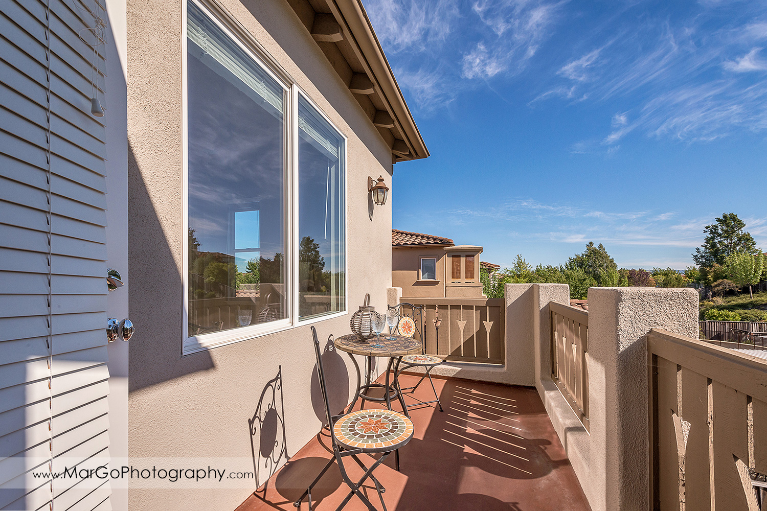 upstairs patio at San Ramon house - real estate photography