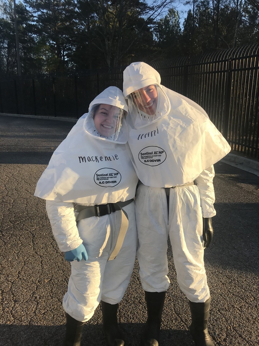 Students were trained in how to safely dress and remove personal protective equipment, which have been vital in the fight against COVID-19.