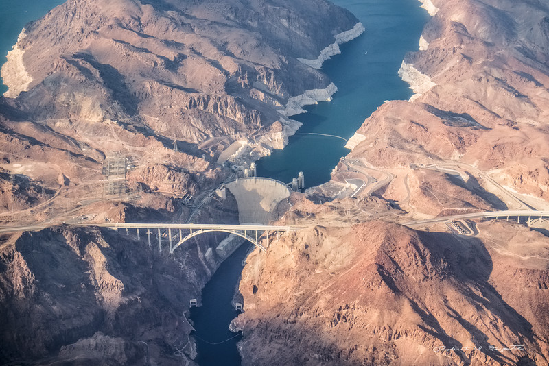 Hoover Dam on the approach to Las Vegas