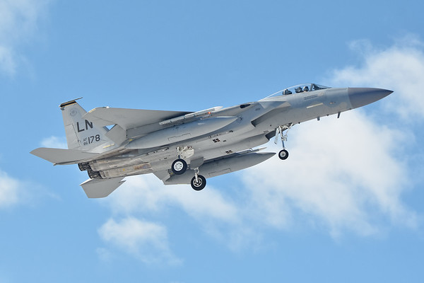 F-15s of the 493rd Fighter Squadron