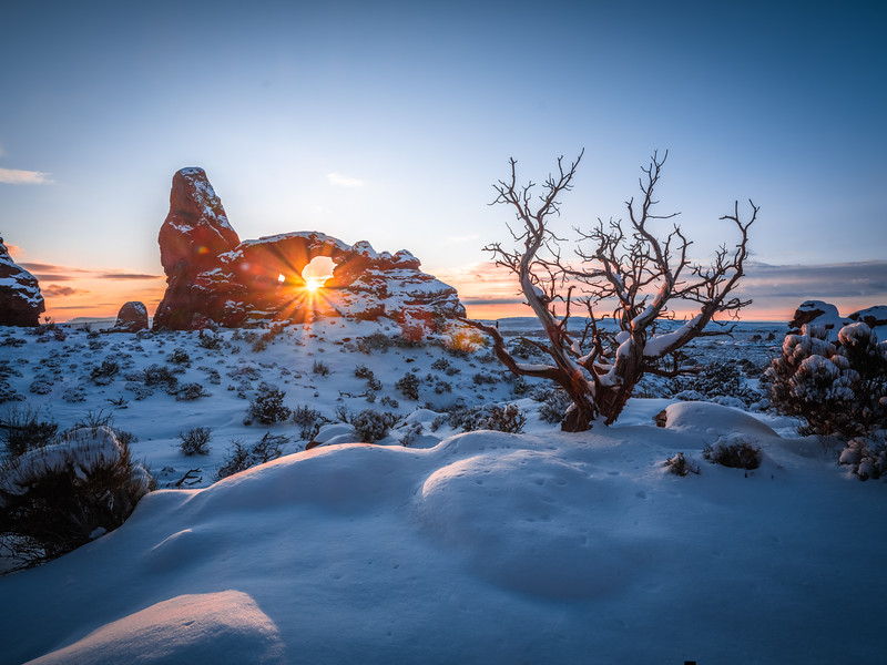 Winter Friends: Arches National Park Fuji GFX100 Elliot McGucken Medium Format Fine Art Landscape Nature Photography