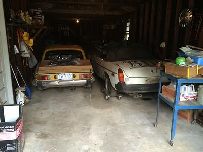 MGB in Garage