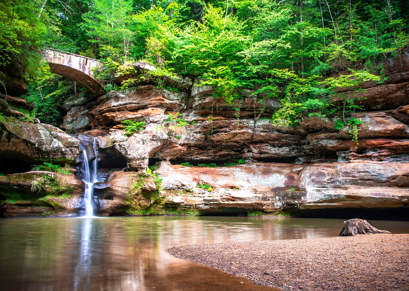 Upper Falls At Hocking Hills