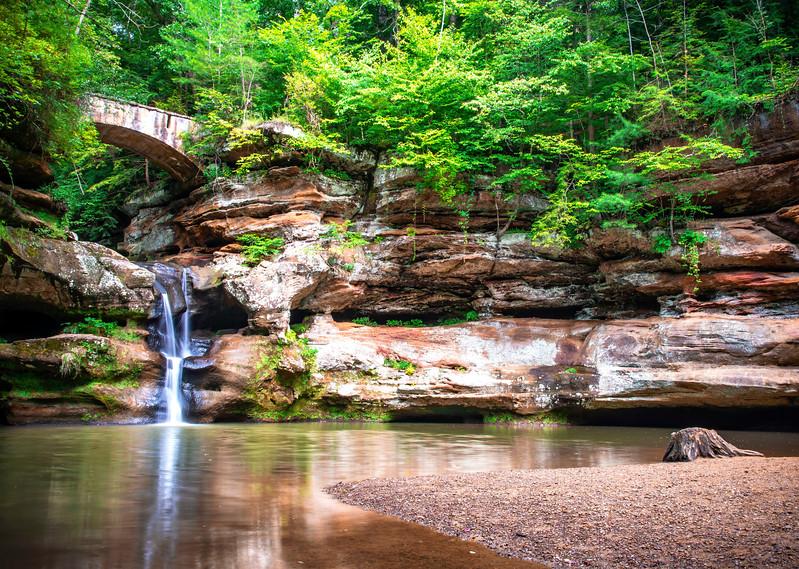 Upper Falls At Hocking Hills