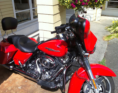 Renting Harley Davidson Motorcycle - August