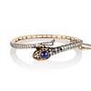 4.50ctw Sapphire and Diamond Serpent Bangle 0