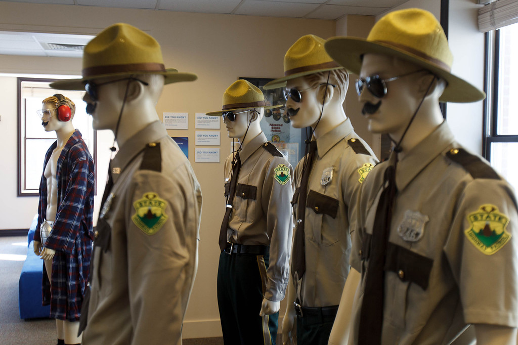 . Wardrobe from the film Super Troopers on display on Park City\'s Main Street on the second day of the Sundance Film Festival Friday January 18, 2013. Trent Nelson  |  The Salt Lake Tribune