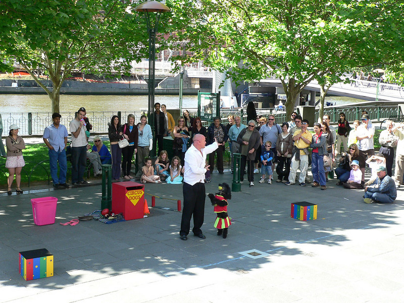 A lovely Spring day brings out all sorts of street performers.