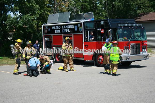 7/13/09 - Metro Lansing Haz Mat exercise