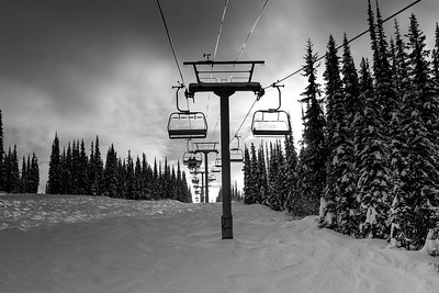 Sun Peaks - Slopes, People and Lifts