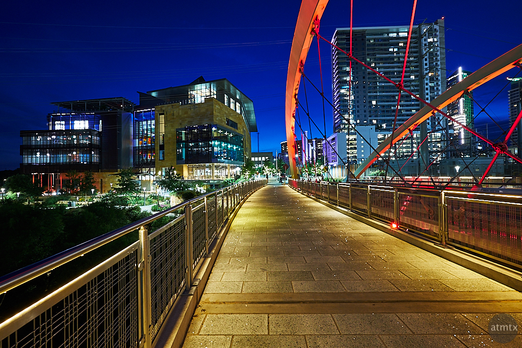Blue Hour, 2nd Street Bridge - Austin, Texas