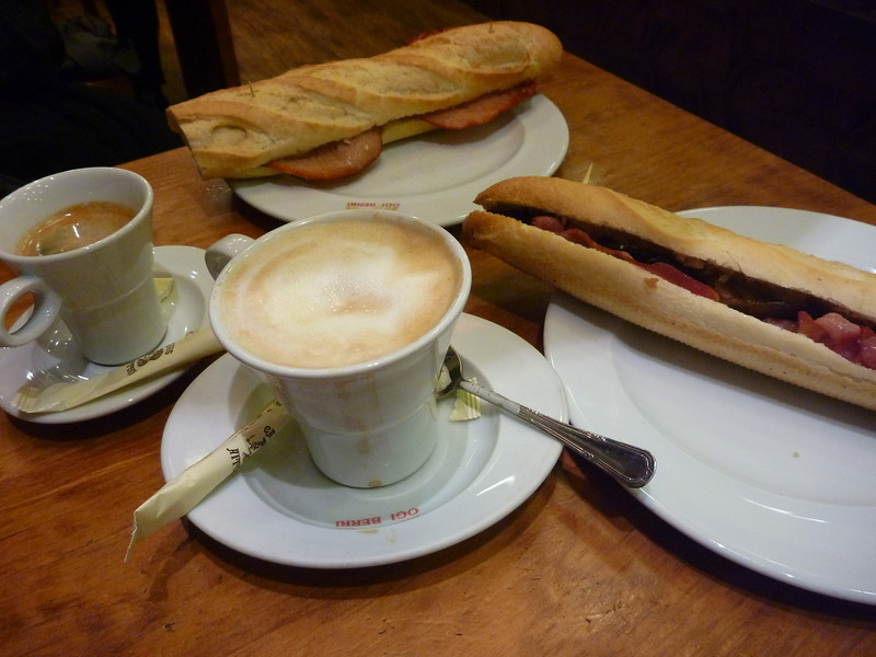 We took a nap then woke up when very few shops were open so we had bocadillos to tide us over until dinner *Ogiberri