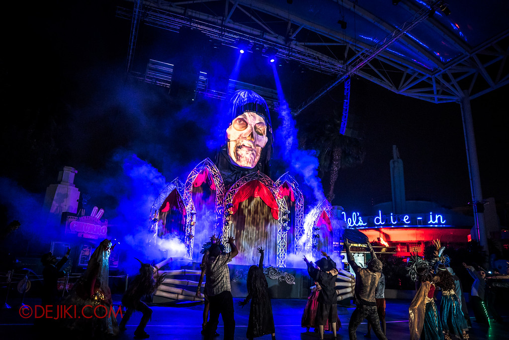 Halloween Horror Nights 6 - Opening Scaremony / Damien Shipman on the skull