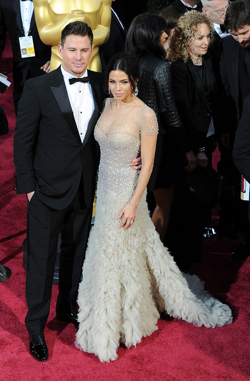 . Channing Tatum and Jenna Dewan-Tatum attend the 86th Academy Awards at the Dolby Theatre in Hollywood, California on Sunday March 2, 2014 (Photo by John McCoy / Los Angeles Daily News)