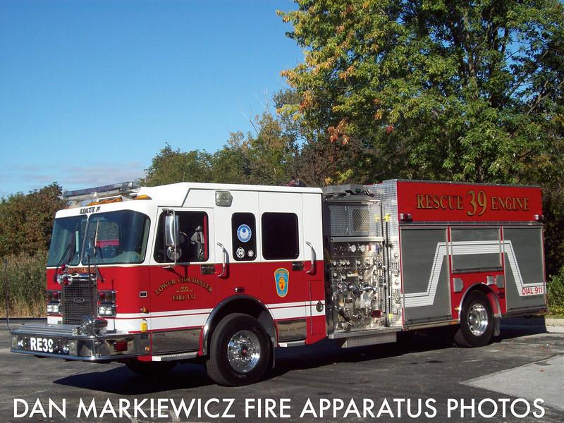 LOWER CHICHESTER FIRE CO. DELAWARE COUNTY RESCUE 39 2003 SPARTAN/QUALITY PUMPER RESCUE