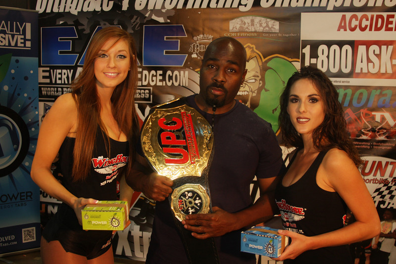 2012 Ultimate bench Press Champion Joe Hil with the Wing House Girls. Way to go Joe
