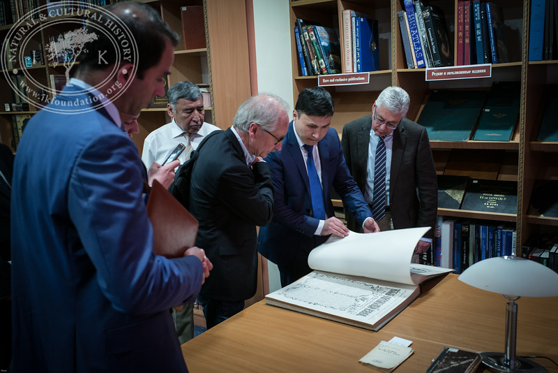 "Visit to the Rare Book Collection in The National Academic Library of Kazakhstan as part of the seminar ""The Linnaeus Apostles Bridge Builder Expeditions - Sweden, Kazakhstan, Kyrgyzstan & Russia. Including Launch of The Explorer's Field Guide""."
