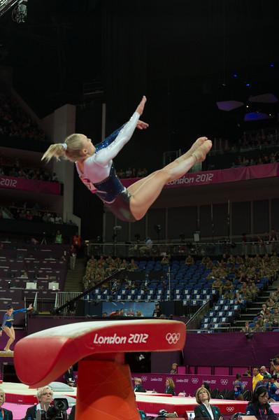 Annika Urvikko at London olympics 2012__29.07.2012_London Olympics_Photographer: Christian Valtanen_London_Olympics_Annika Urvikko at London olympics 2012_29.07.2012__ND40140_Annika Urvikko, finnish athlete, gymnastics