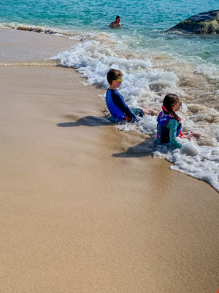 it was so funny to see how much Myah and Lincoln enjoyed the surf.