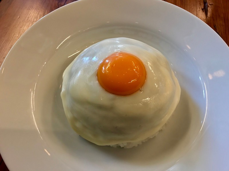It looks like a giant fried egg.
