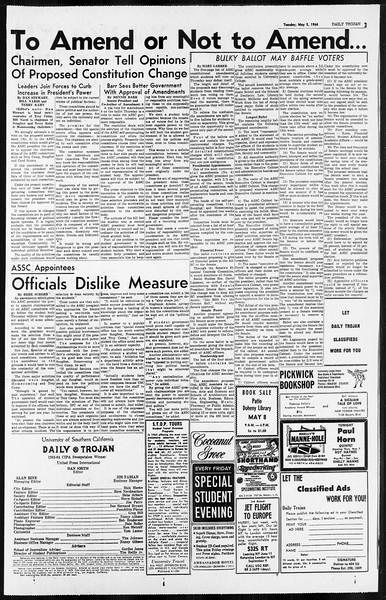 Daily Trojan, Vol. 55, No. 111, May 05, 1964