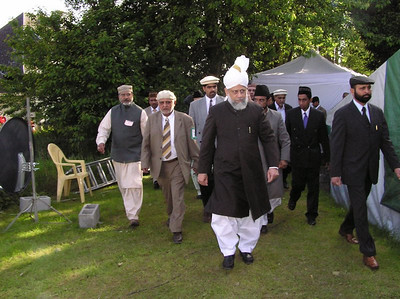 Inspection by Huzoor