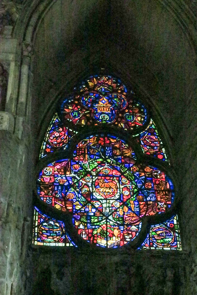 rose window in the Reims cathedral.