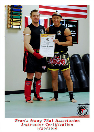 Muay Thai Instructor Certification 1/30/2010