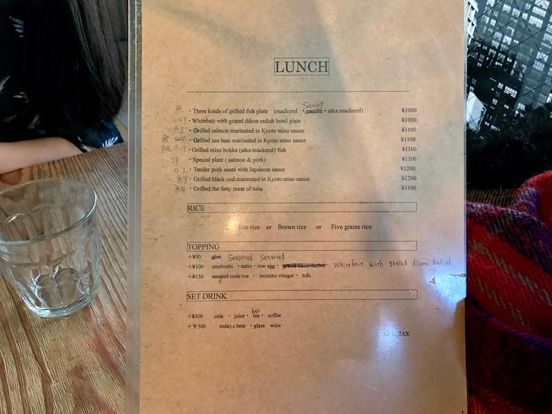 An English language menu!