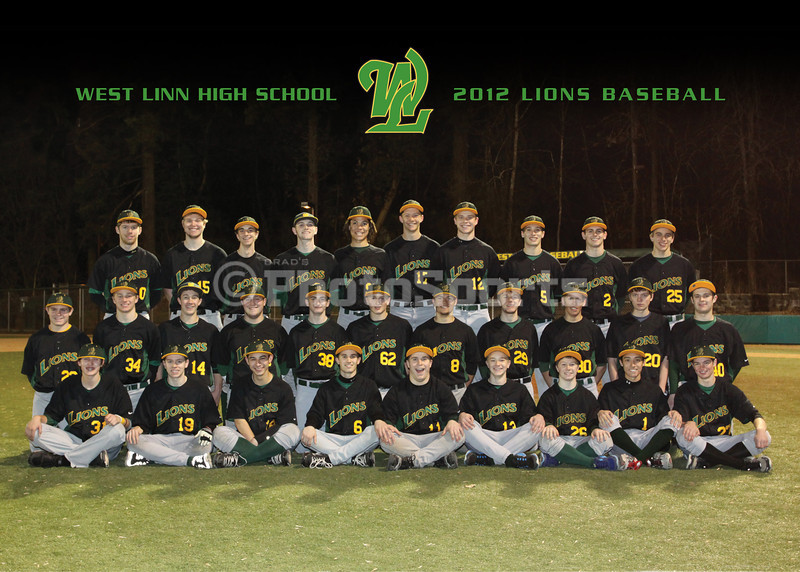 2012 West Linn Baseball Team Photo