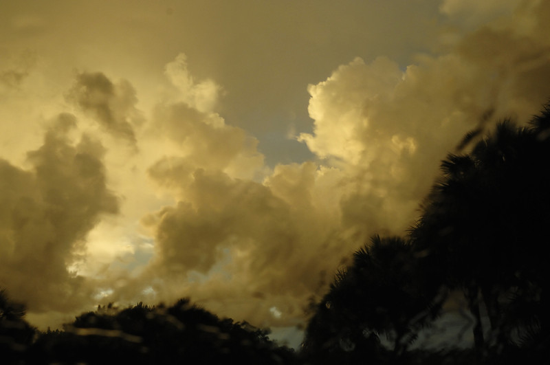 storm clouds abstract over Florida's Golf Coast