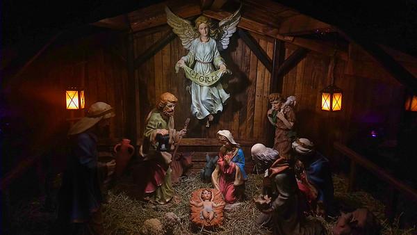 Construction of Nativity Scene