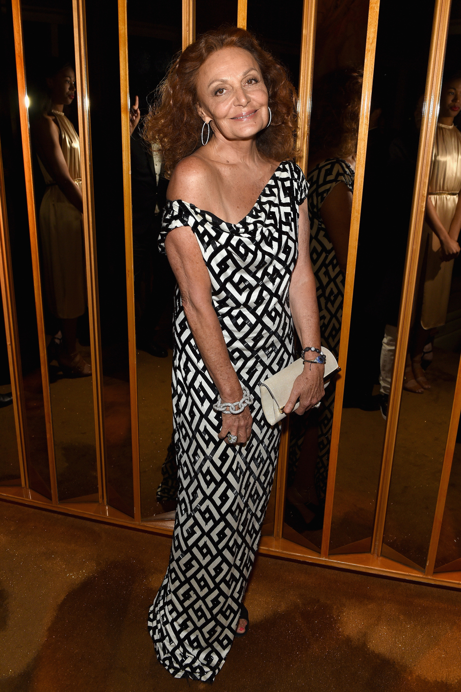 . Fashion designer Diane von Furstenberg attends the official CFDA Fashion Awards after party co-Hosted by Refinery29 at The Top of The Standard on June 1, 2015 in New York City.  (Photo by Dimitrios Kambouris/Getty Images for Refinery29)