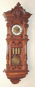 VR-533 - Altdeutsche 3 weight Vienna Regulator by Gustav Becker in a Stunningly Unusual Case