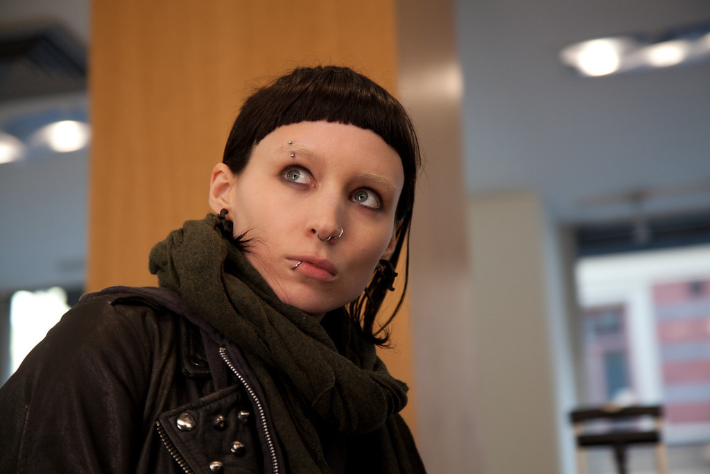 """. In this film image released by Sony Pictures, Rooney Mara is shown in a scene from \""""The Girl With The Dragon Tattoo.\"""" Mara was nominated Tuesday, Jan. 24, 2012 for an Academy Award for best actress for her role in the film. The Oscars will be presented Feb. 26 at the Kodak Theatre in Los Angeles, hosted by Billy Crystal and broadcast live on ABC. (AP Photo/Sony, Columbia Pictures, Merrick Morton)"""